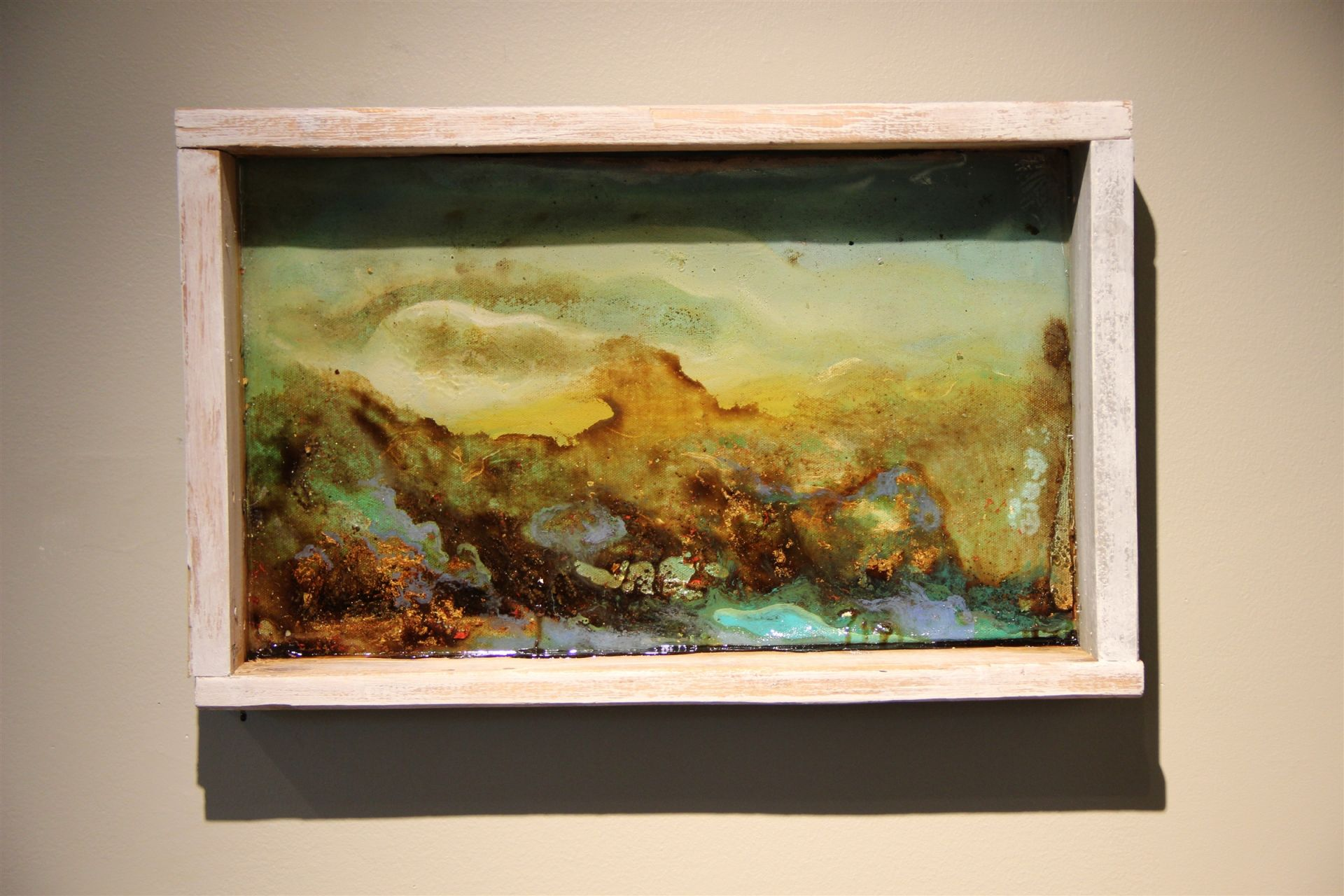 Will Close's '15 Capstone Project was recently displayed in the Installation Gallery. For his Capstone, he made landscapes with nontraditional materials, such as molasses, honey, karo syrup peanut butter, flour, baking soda, and more.