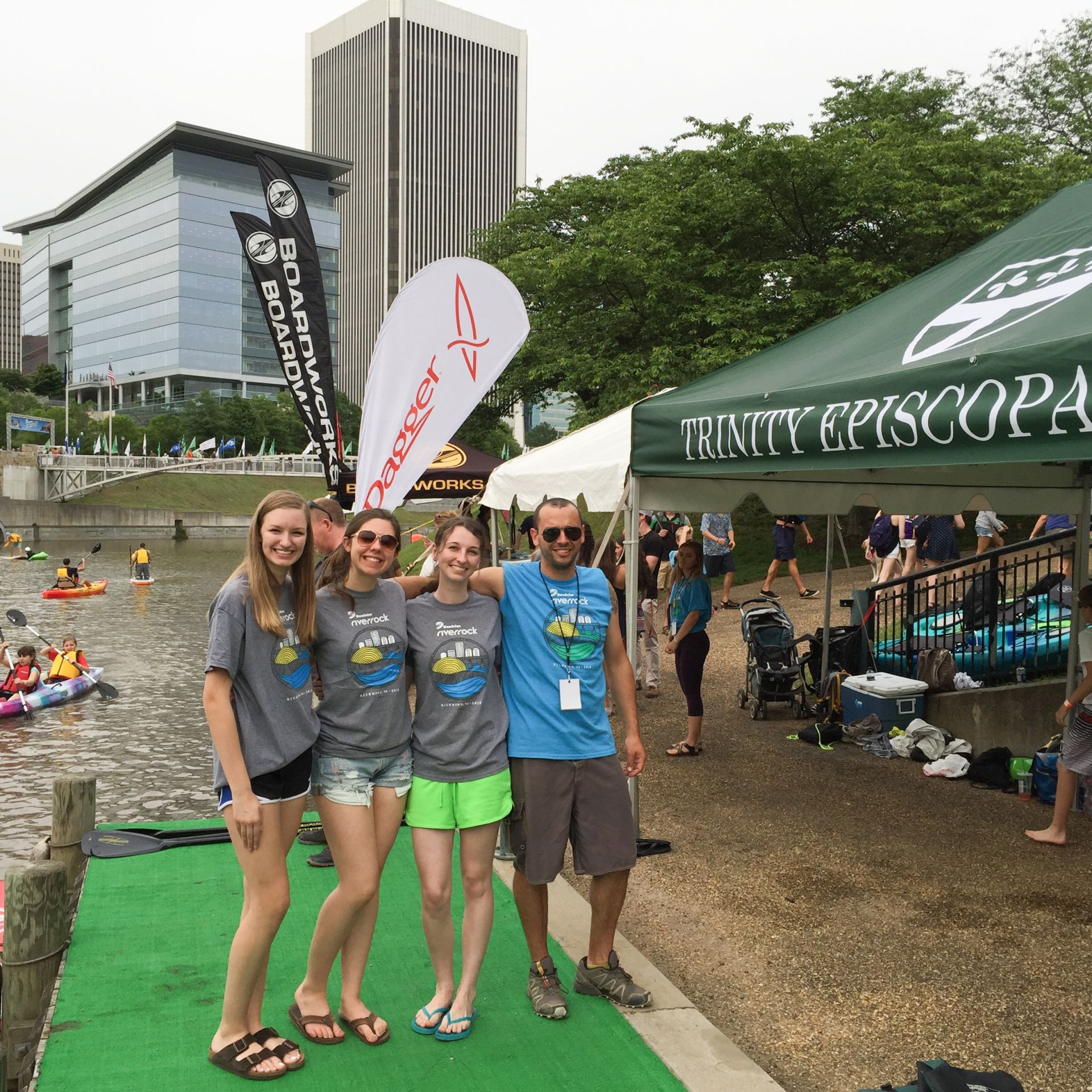 Trinity participates in Dominion River Rock, the largest outdoor sports festival on the East Coast.