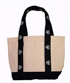 Canvas tote by Cape Cod with Trinity logo ribbon, $15.00.