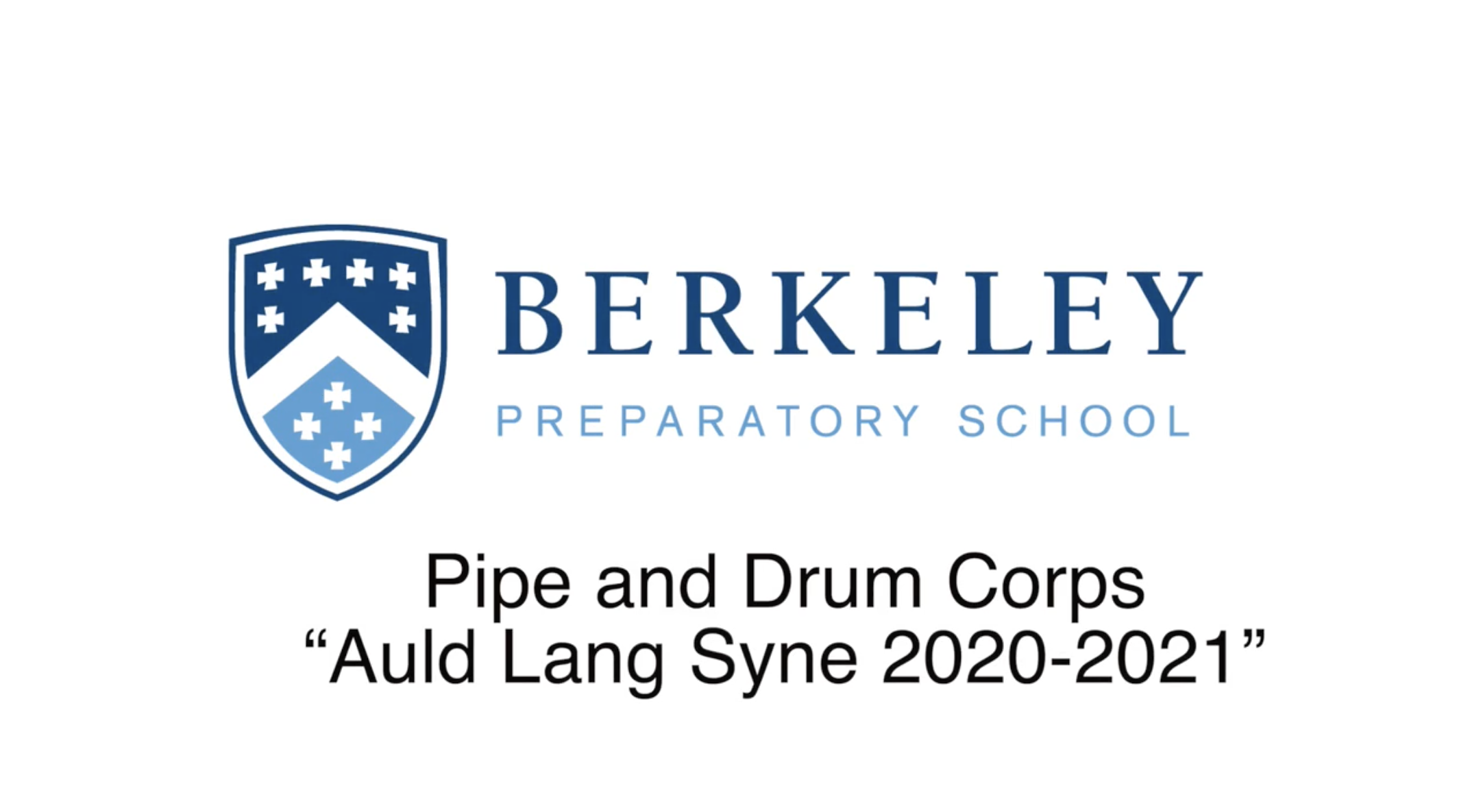 Pipe and Drum Corps perform Auld Lang Syne