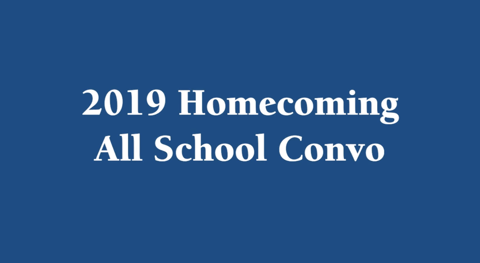2019 Homecoming Convo