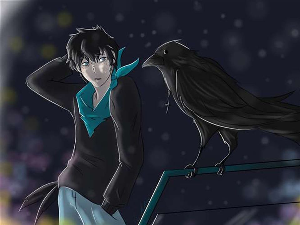 "GOLD: Victoria Imbriano '17 - ""Another Raven"" Digital Art"