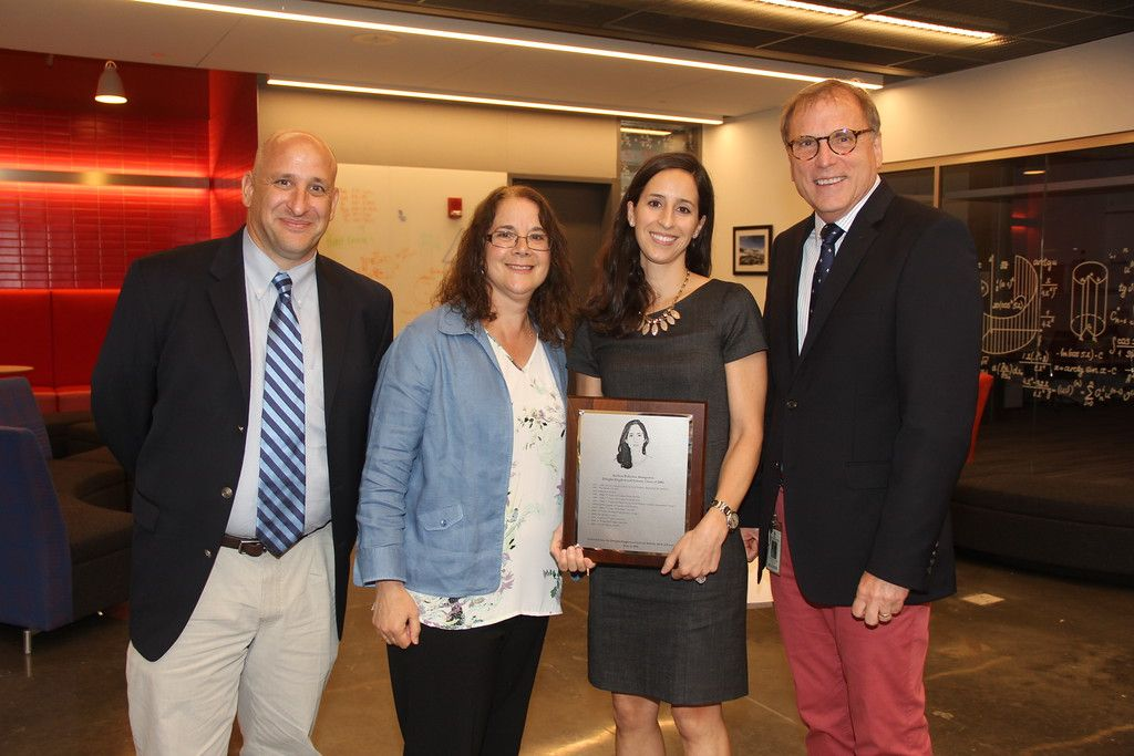 Andrea Palacios Aranguren '01 is inducted into the Athletic Hall of Fame