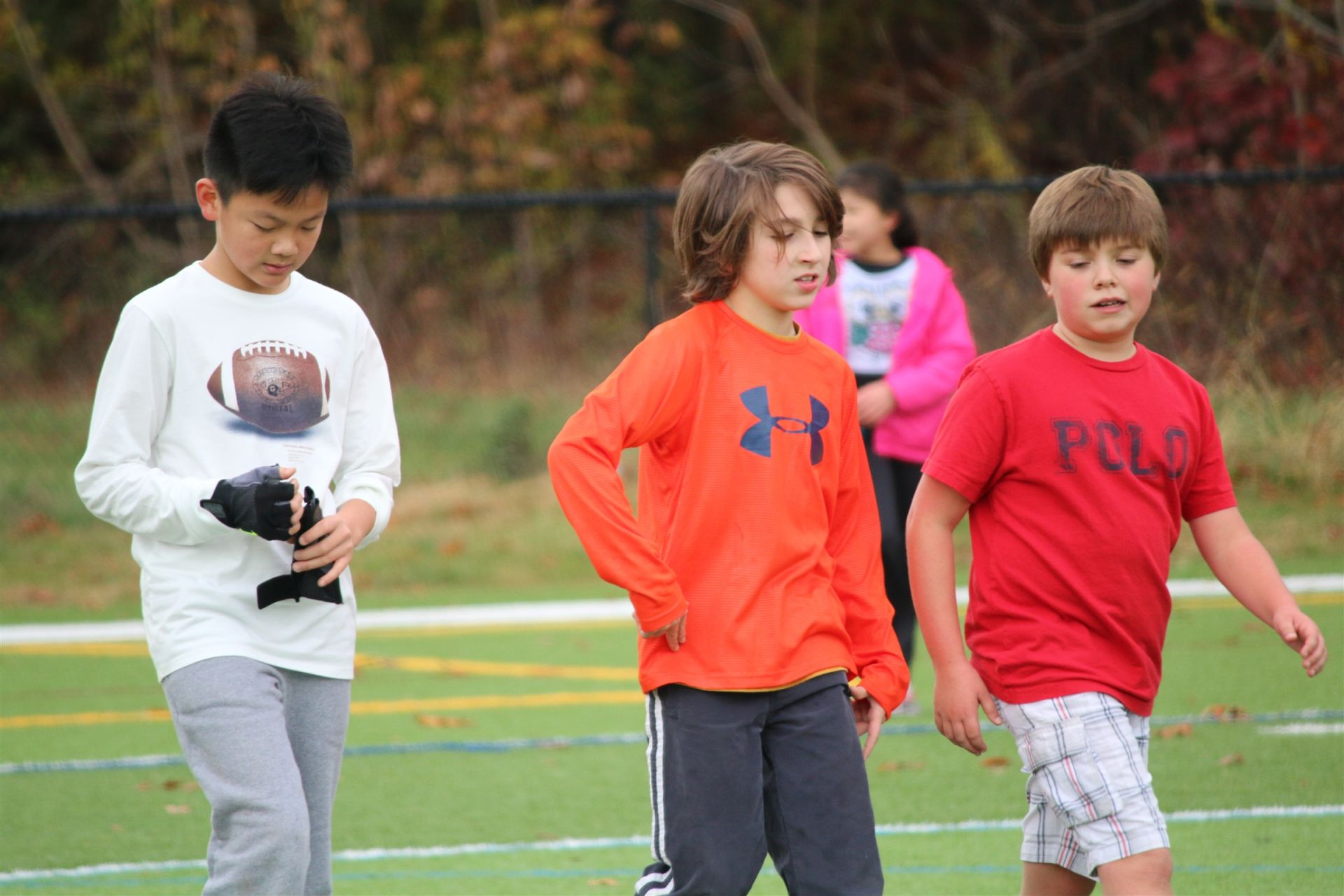 Elementary school students enjoy gym class and physical education at Hamden Hall Country Day School