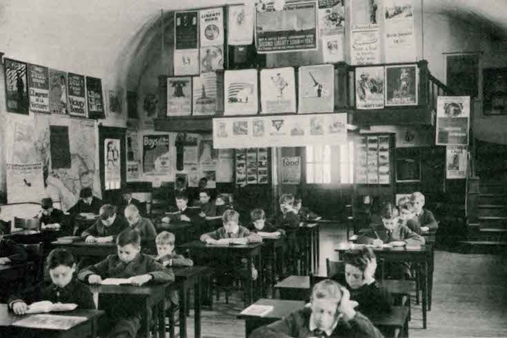 early 1900's private school Assembly Room,Small
