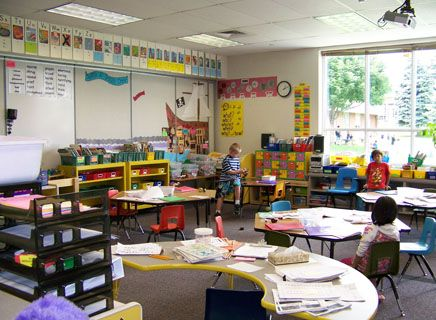 A classroom in the Gates Family Foundation Primary Wing.