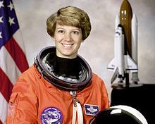 Commander Eileen Collins, first female Shuttle commander