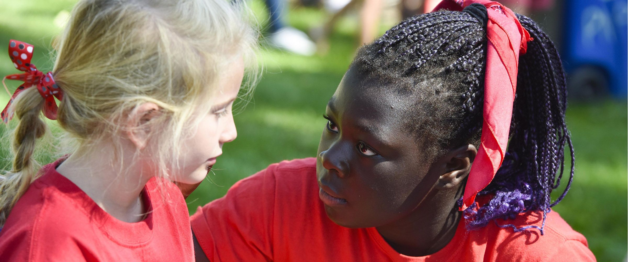 Face painting at an outdoor event at Colorado Academy, a top private PK-12 school in Denver.