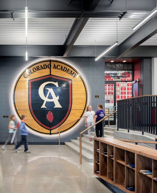 CA Logo on Wall of Athletic Center