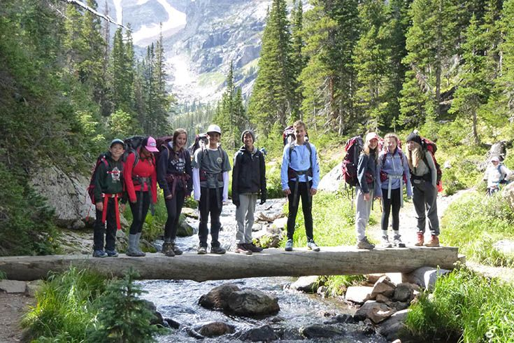 Colorado Academy Eighth Graders on a backpacking trip to Finch Lake. Colorado Academy is a top Pre-K-Grade 12 school in Denver, CO.