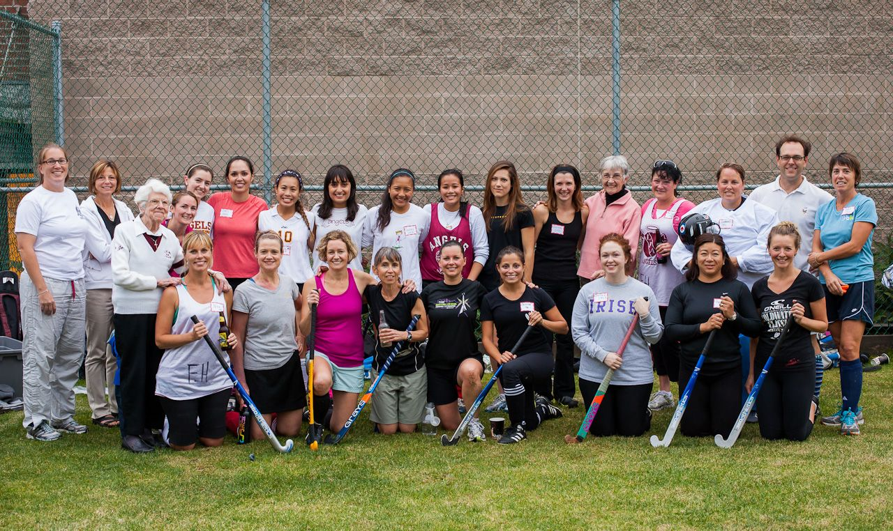 All the alumnae at the 2012 Alumnae Field Hockey Game