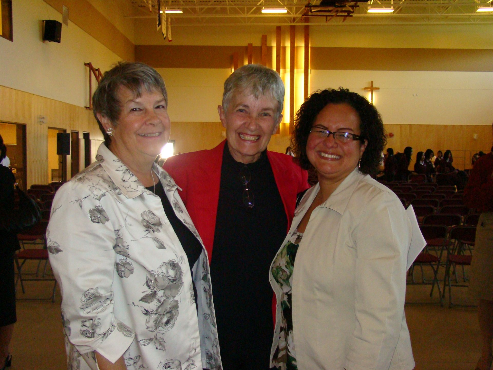 Pat, Brenda and Jacy at the Sisters of St. Ann 150 year celebration in 2008