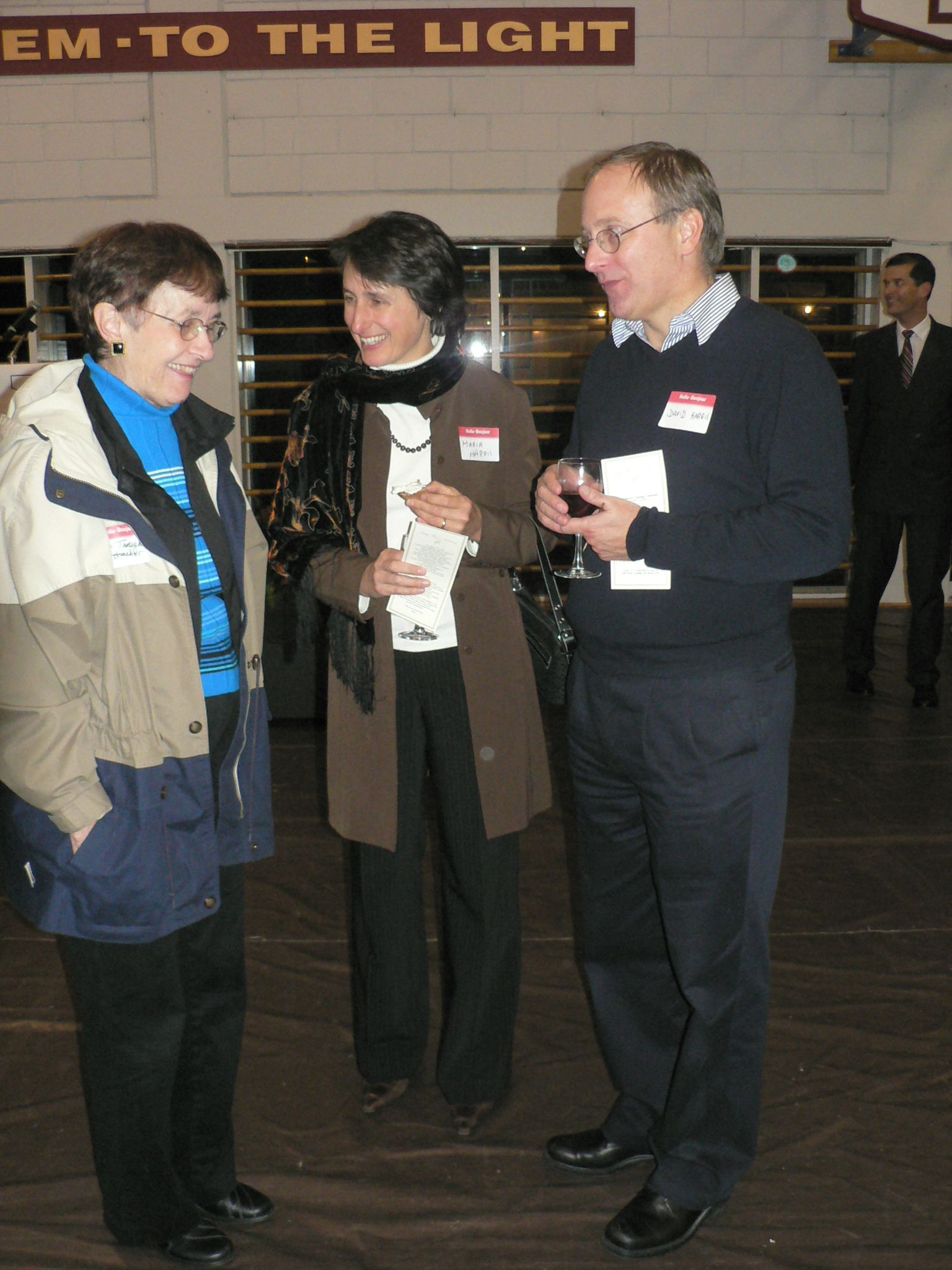 Brenda, Maria and David at the 2006 Campaign Wine and Cheese