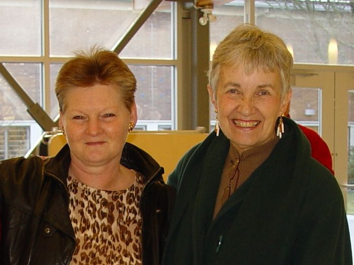 Marian and Brenda at the 2007 Alumnae Home for the Holidays