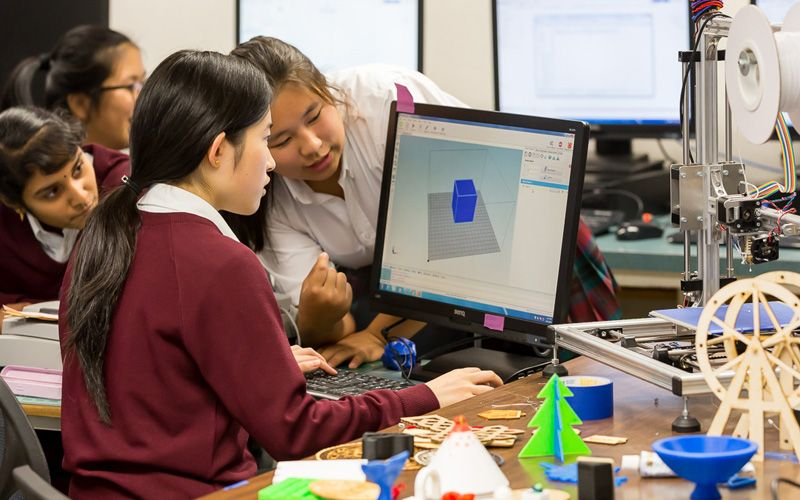 CAD software, whether it is used on a PC or a Mac, is a tool nearly every girl gets  chance to explore.