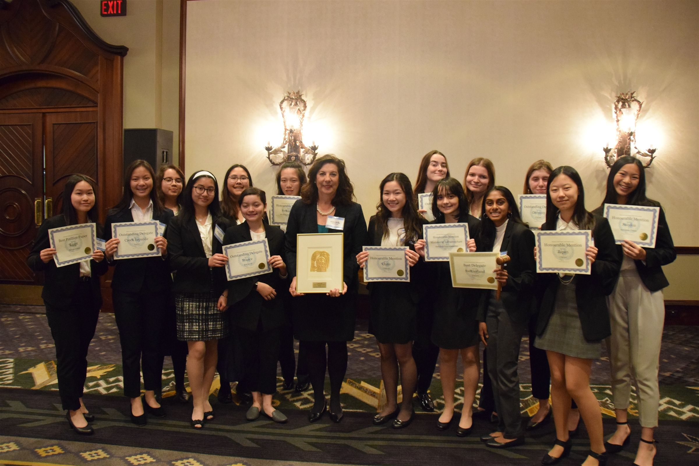 LFA won 15 individual awards and Best Large School Delegation