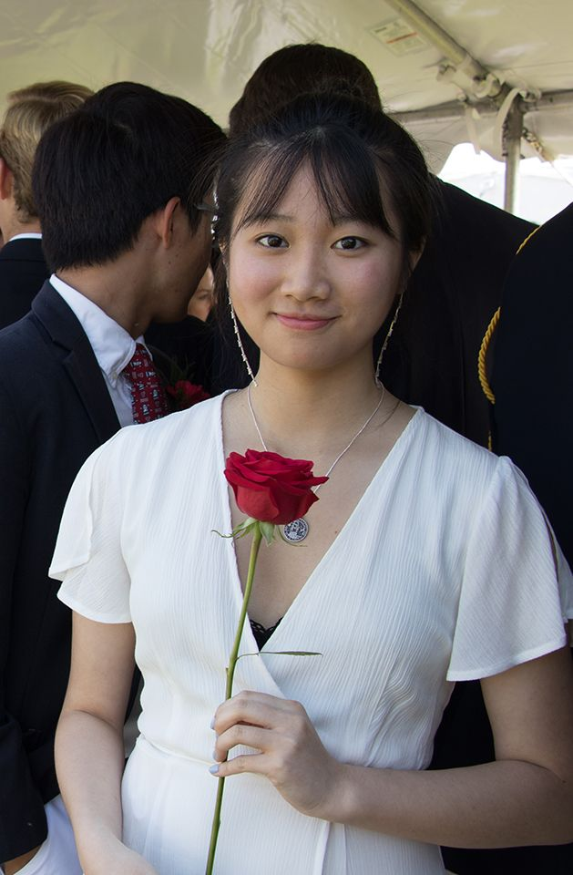 An international student at Tabor for commencement