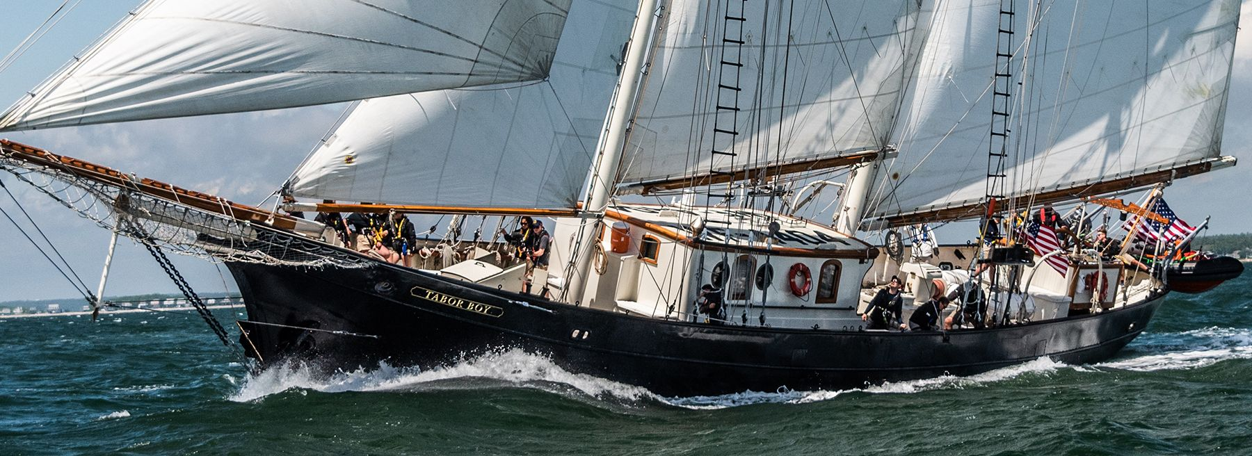 SSV Tabor Boy sails in Buzzards Bay