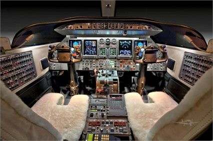 Learjet 40XR cockpit