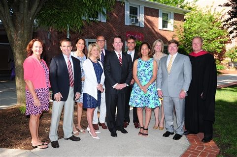Severn School board of trustees join together on Teel Campus.