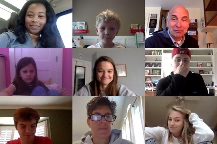 Severn School teachers and students on Zoom.