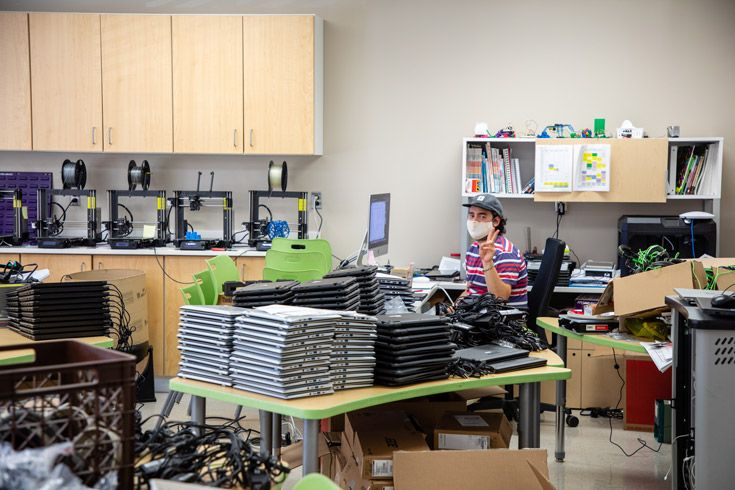 Severn School technology teacher preparing for back to school.