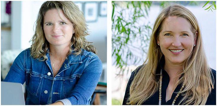 Headshots of Sara Corckran and Erin Baldecchi of Happy YOUniversity.