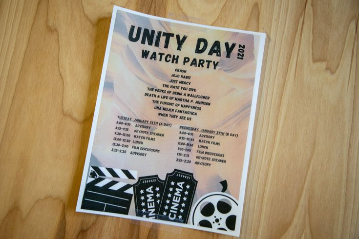 Photo of Unity Day flyer.