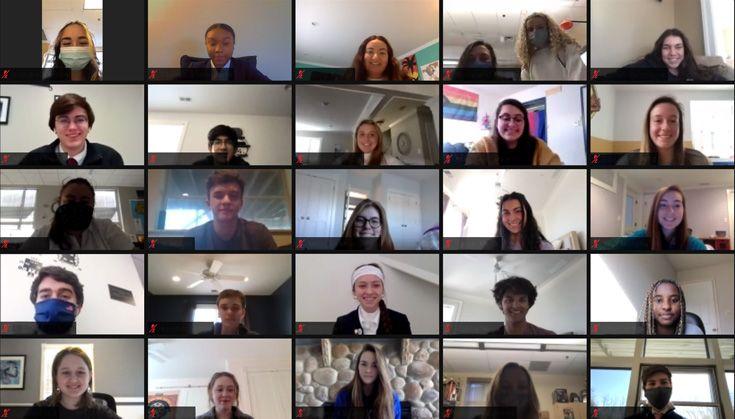 Severn School high school student Unity Day organizers on Zoom.
