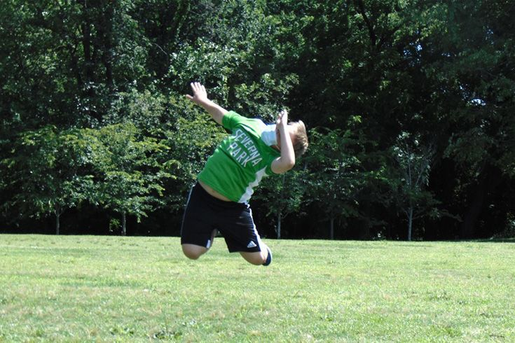 Severn School photography summer camp examples capturing a mid air jump.