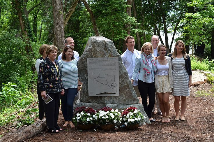 The Stine Environmental Center was given by the Stine and Igler families in loving memory of James M. Stine.