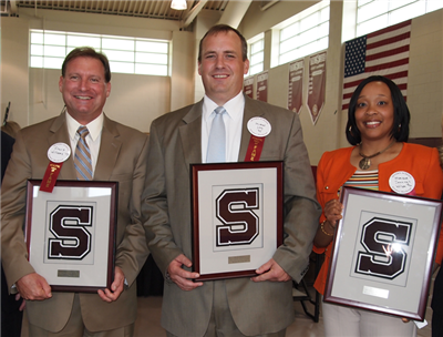 Courtland D. Williams '73, Michael D. Long '90, Monique Jennings Wilson '96 and Ronald J. Staines Jr '00 (not pictured)