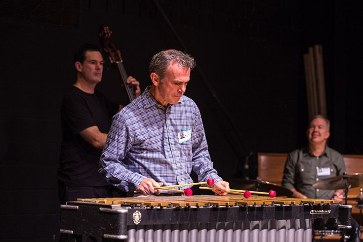 Our Lower School was proud to host Mike Noonan and the Unified Jazz Ensemble for our 2018 Elizabeth Wegner Musicians in Residence Program. For four days, members of the group worked with kindergarten through fifth-grade students to prepare for a group performance on Friday. Chesapeake Campus buzzed with rhythmic, jazzy energy for a week of learning, performing and fun!