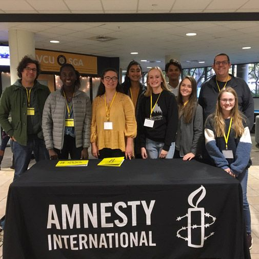 Severn's Amnesty International chapter at the regional conference