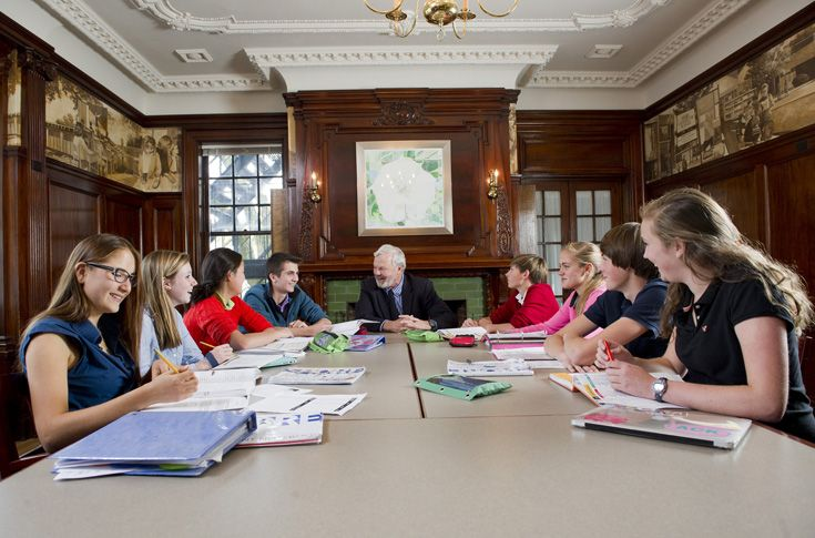 The ninth grade curriculum gives our seniors unique opportunities such as class with the Head of School.