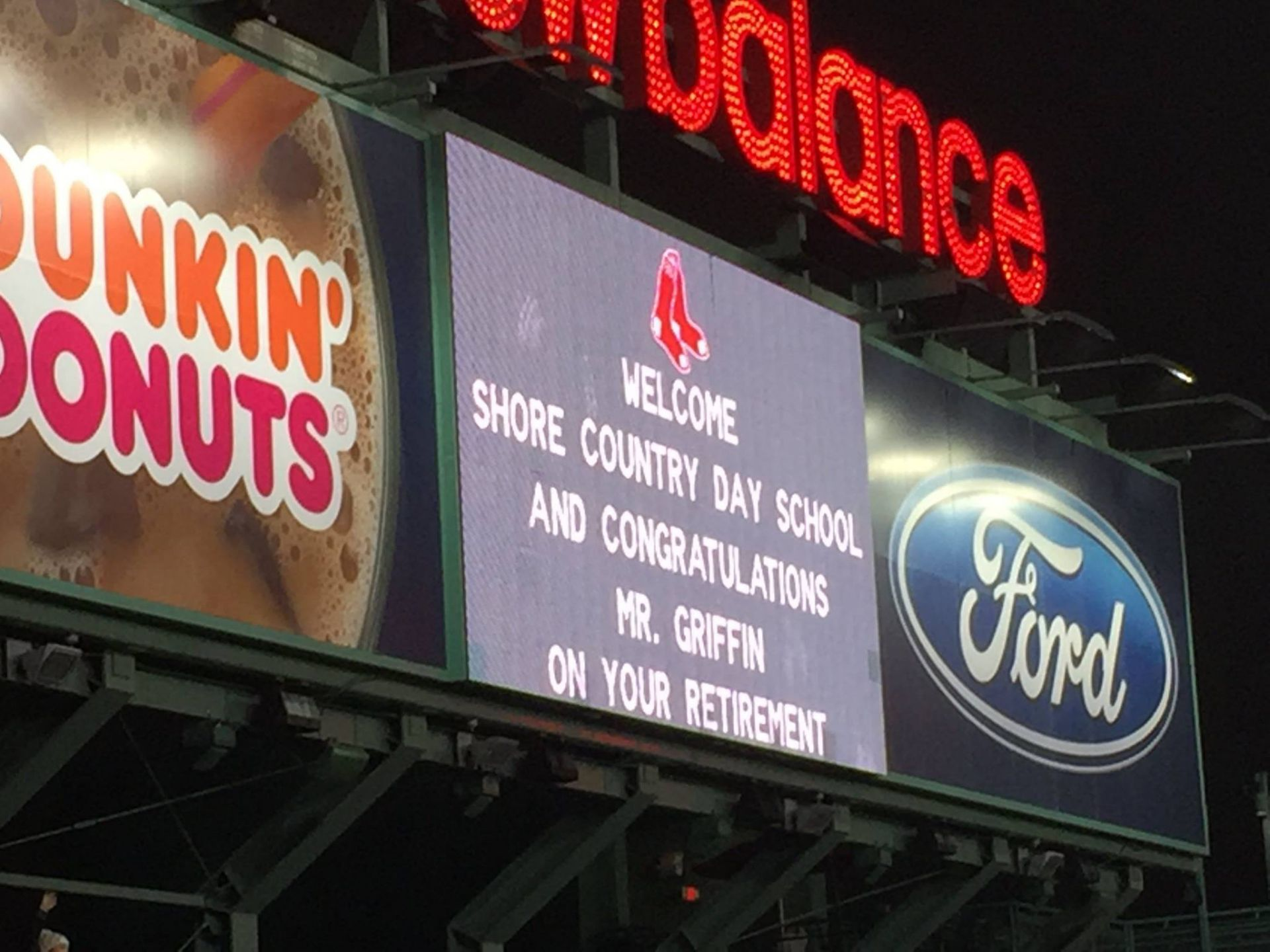 Mr. Griffin's JumboTron message