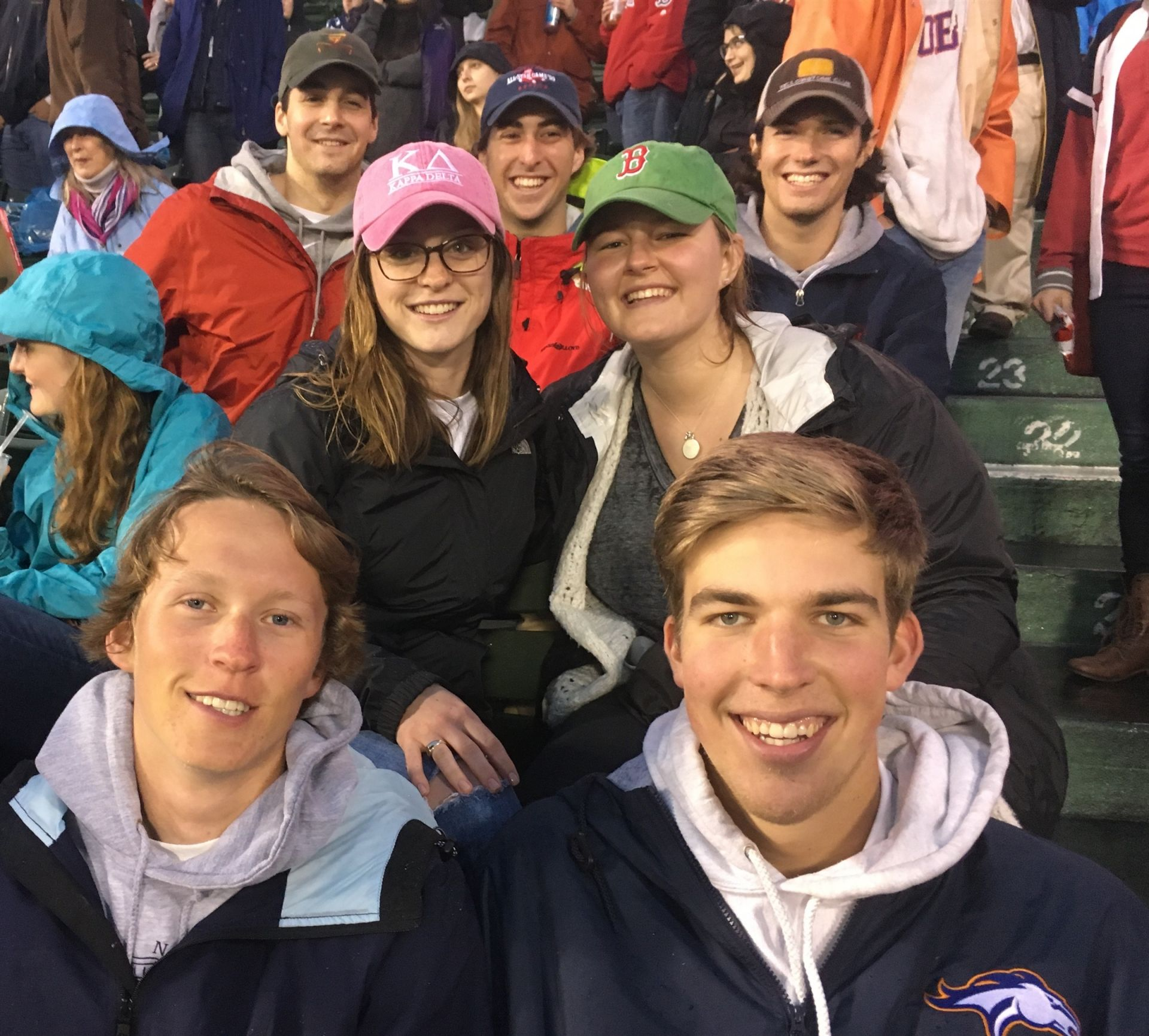 All smiles during the Sox game