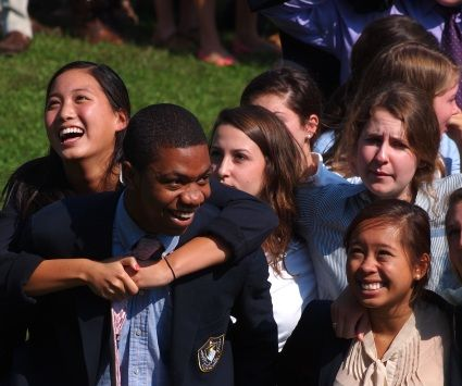 Boarding school fosters lifelong friendships.
