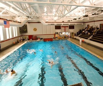 Many schools have pools for swimming, diving, and water polo.