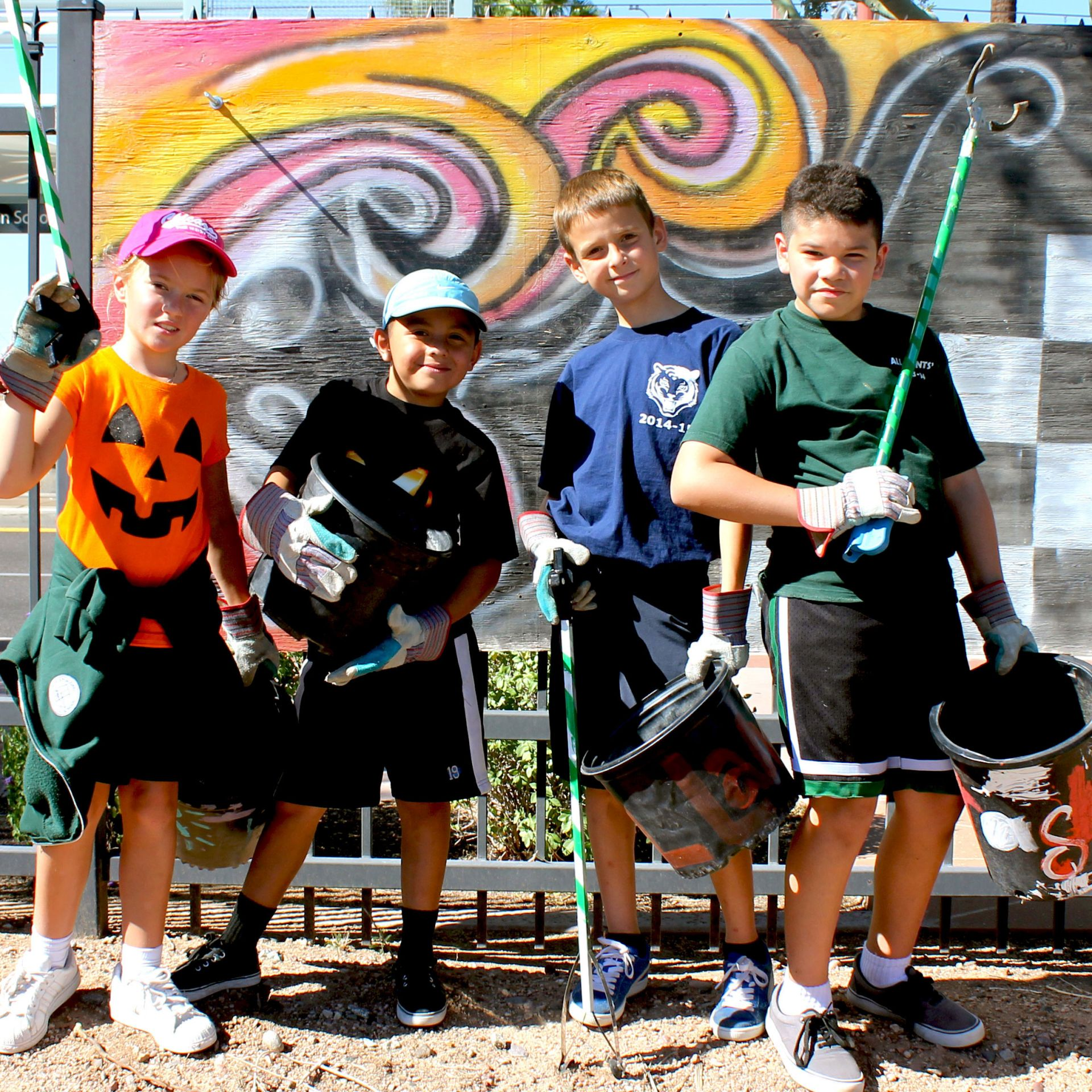 Third Grade Students Participate in Lower School Service Day