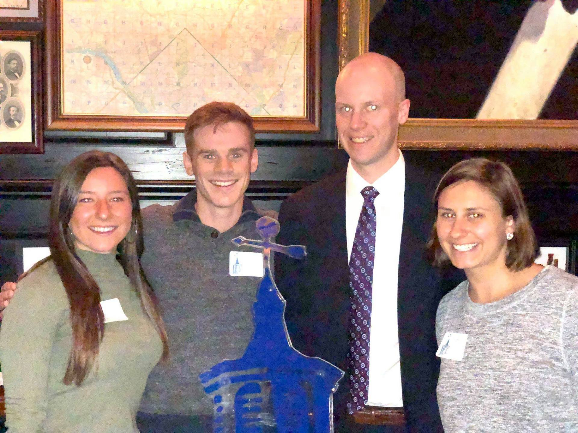 DC Alumni (left to right) Cammie Lonsway '14, Adam Sulier '11, William Hulse '08, and Audrey White '15.