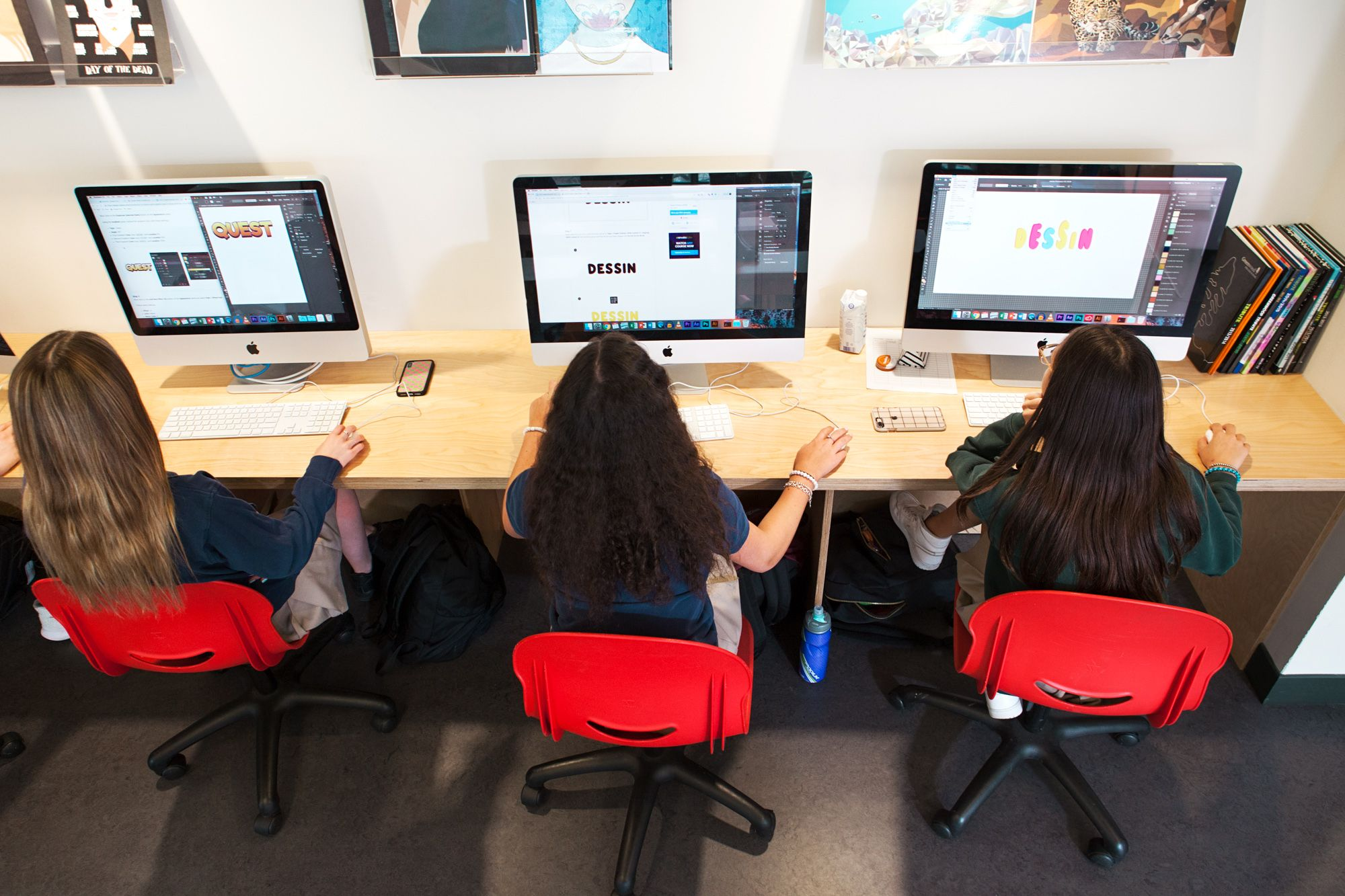 The thoughtful design of our media arts space, combined with the latest technology, plays a big role in fostering students' creativity.