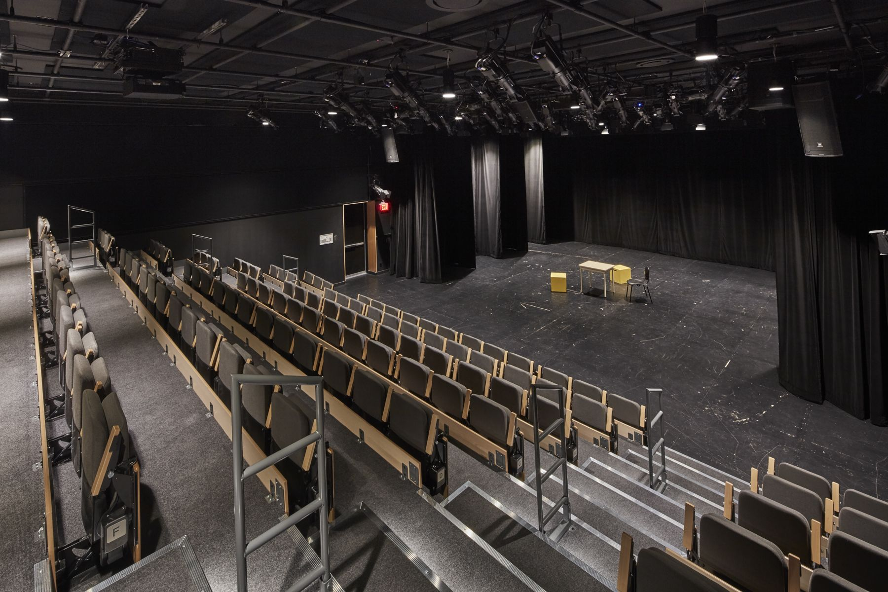 Our performing arts theatre, featuring state-of-the-art sound and lighting equipment and retractable seating, encourages students to give their creativity free rein. This versatile space hosts drama classes, school plays, guest speakers, group presentations and more.