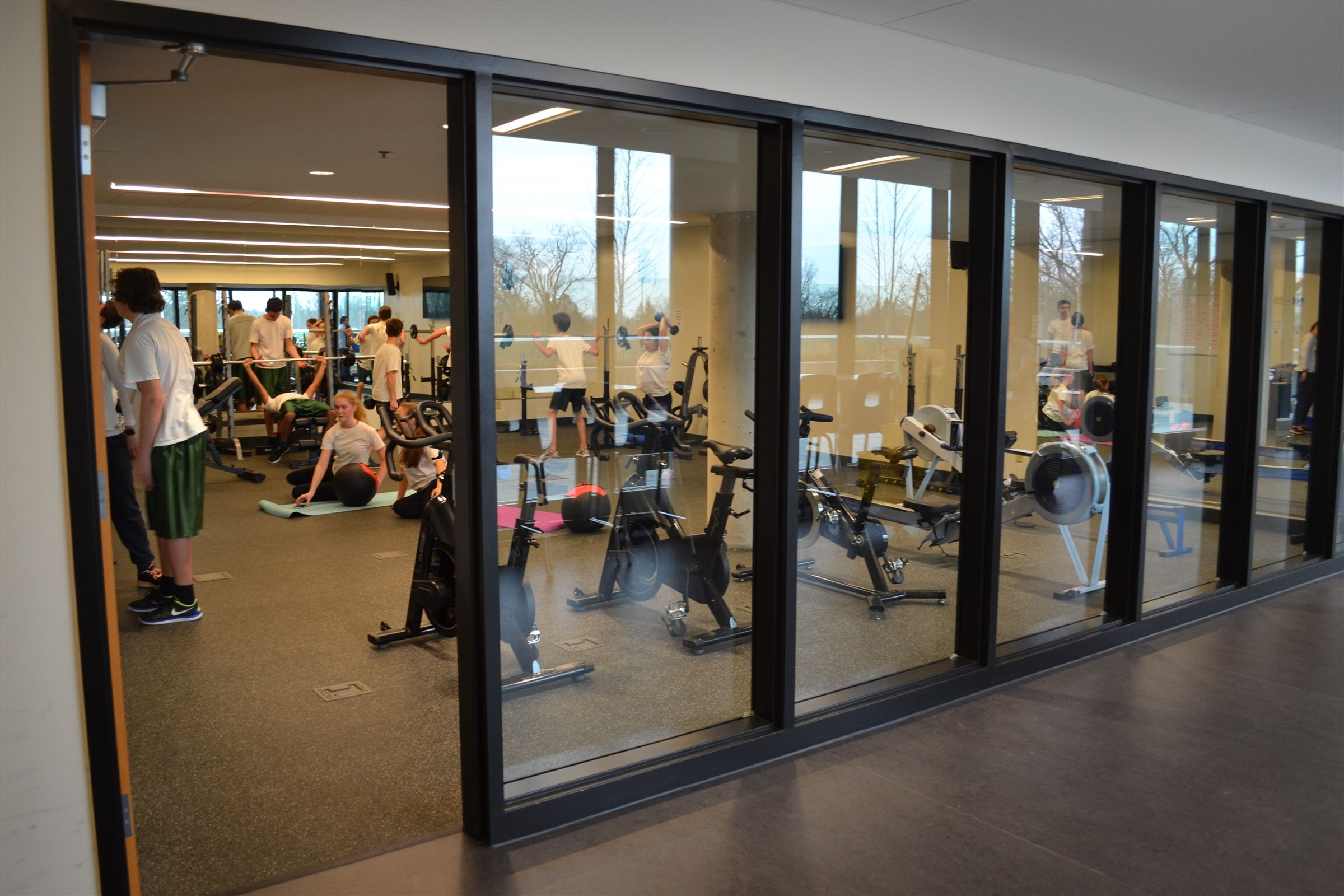Greenwood's fitness room encourages students and staff to make physical well-being a priority. This facility introduces students to the equipment and core movements that will enable them to put together effective workouts anywhere in the world.