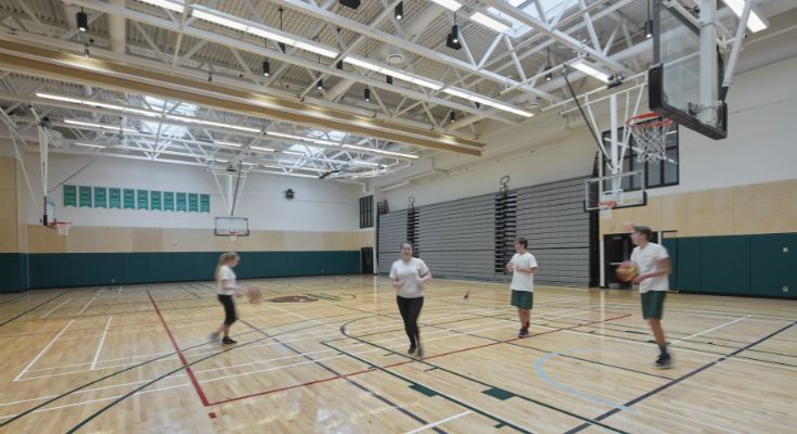 A new gym doubles our capacity for indoor athletics.
