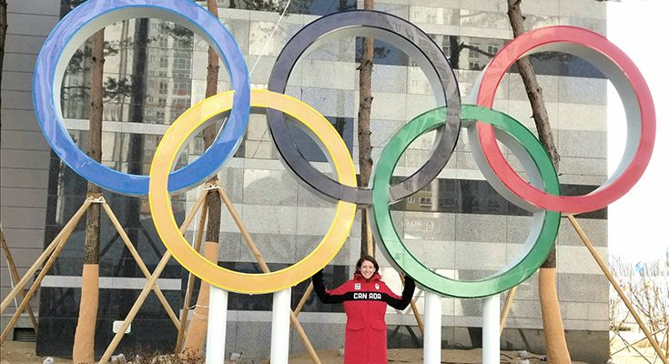 Through her work with the Canadian Olympic Committee, Emily Wright (