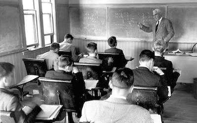 Class with Mr. King, 1956