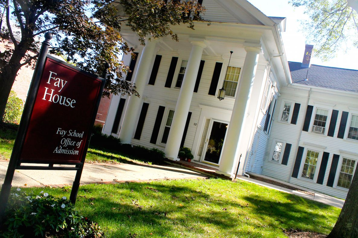 Welcome to Fay School! If you come visit our campus, your tour will begin at Fay House, which is home to our Office of Admission. One of the oldest buildings on our campus, it is named for our founder, Eliza B. Fay.