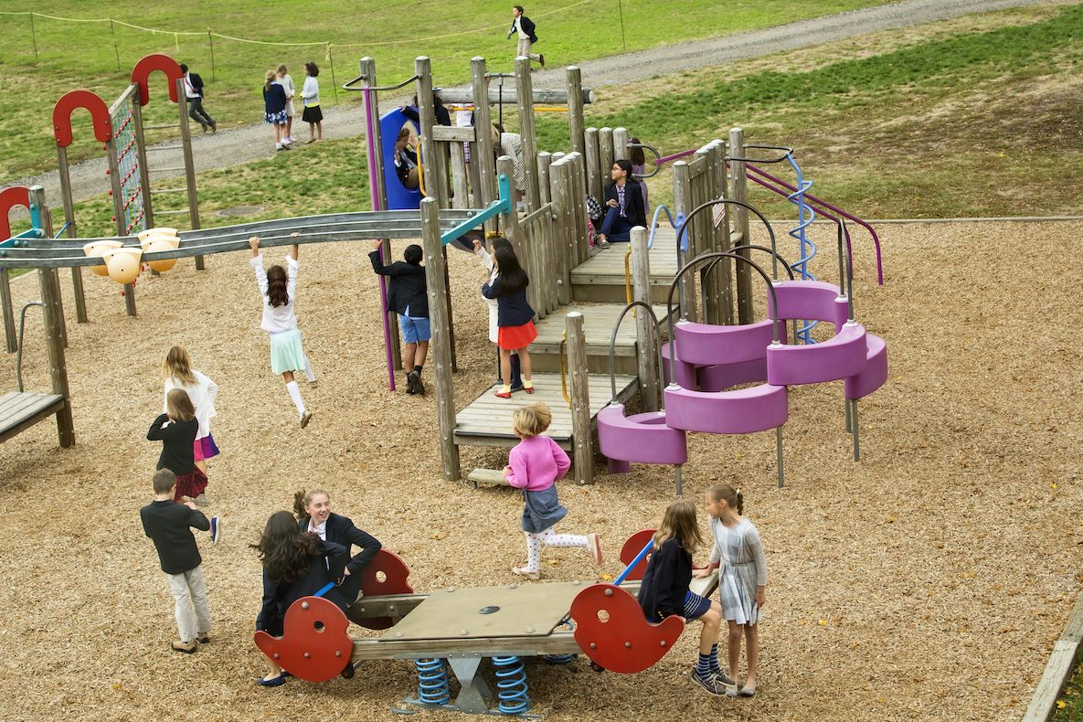 In addition to our athletic fields, students have access to two playground areas…