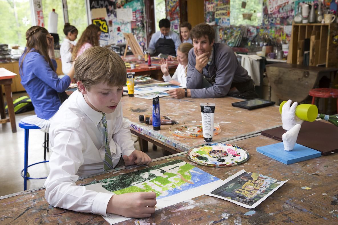 Art classes for grades three through nine take place at the Picardi Art Center. With studios for printmaking, ceramics, painting, sculpture, and other media, every Fay student has the opportunity to build his or her art skills and find new modes of expression.